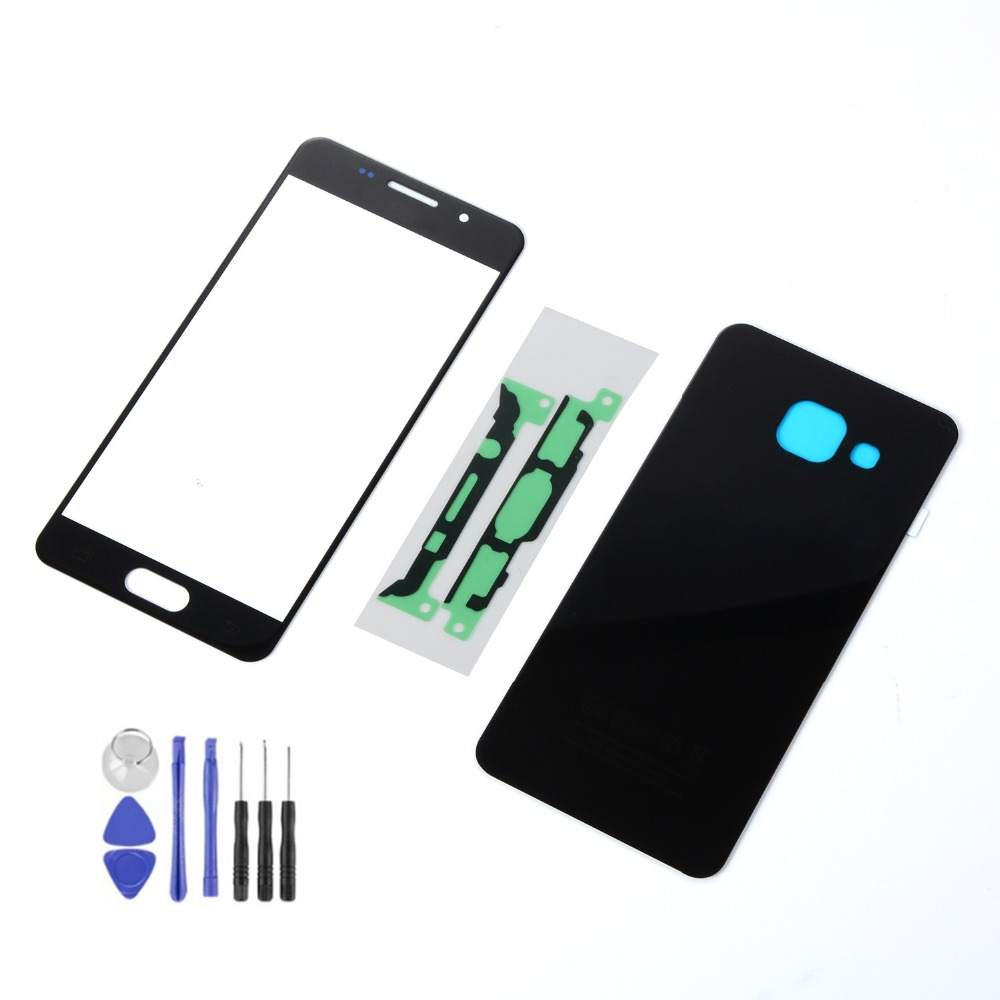 For Samsung A5 2016 A510 A510F LCD Display Touch Screen Sensor Digitizer Glass +Back Glass Battery Cover+Adhesive+Tools