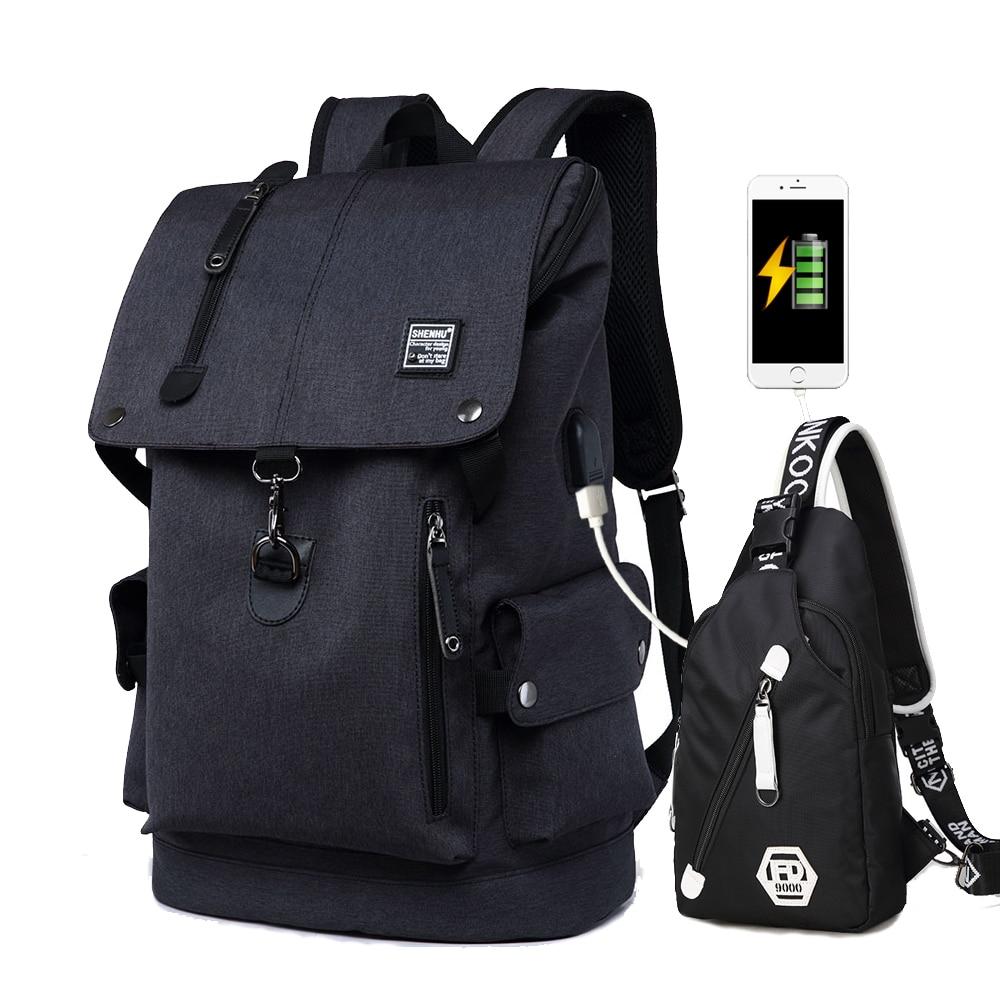 Nuevos niños bolsas de la escuela 2 Set Anti robo hombres Mochila bolsa de viaje impermeable Mochila hombre Mochila Diseño de paquete de 2019-in Carteras escolares from Maletas y bolsas    1