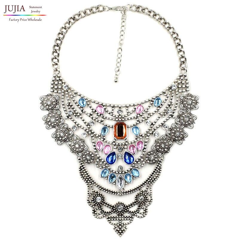 358b500e7f35 3 colores nuevo diseño Z mujeres al por mayor cadena del metal collar de la  manera chunky gargantilla collar babero