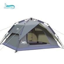 Автоматическая кемпинговая палатка для пустыни и лисы, семейная палатка на 3-4 человека, двухслойная палатка для мгновенной установки, переносной альпинистский тент для пеших прогулок и путешествий