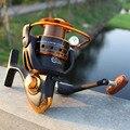 Carrete de pesca 12BB + 1 rodamiento de bolas 500-9000 serie de Metal bobina de carrete giratorio barco Rock pesca rueda