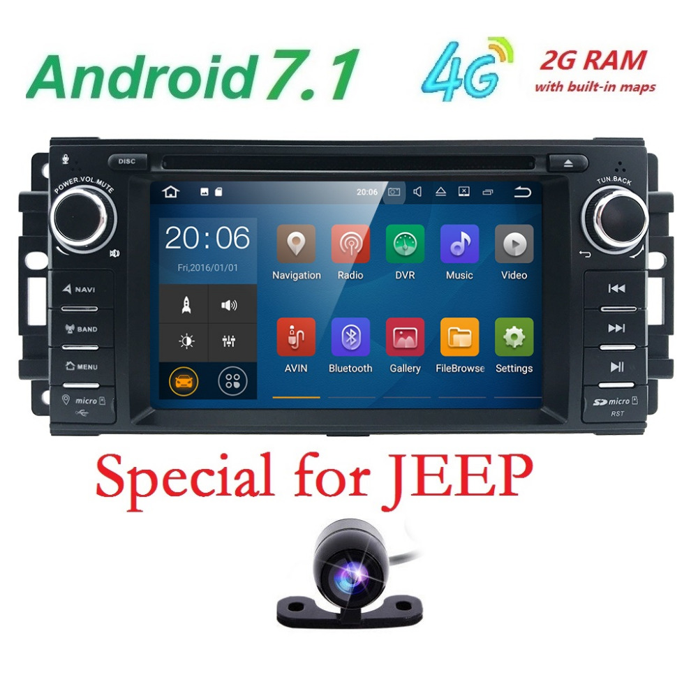 1 din Android 7.1 Car Radio Car DVD automotivo head unit For Chevrolet Epica jeep Grand Cherokee Chrysler 300 Compass 2006 -2011