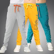 Spring Autumn Pants for Boys 2017 New Letters Printed Cotton Kids Trousers Casual Cotton 3-12 Years Old Children Sport Pants