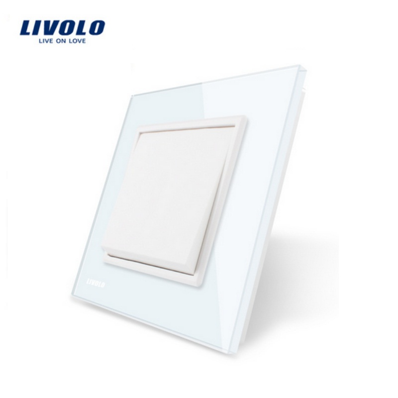Livolo Manufacturer EU standard Push button switch Luxury white crystal glass panel, 1 gang 1 way , VL-C7K1-11 livolo luxury white crystal glass panel push button 1 gang 2 way switch vl c3k1s 81