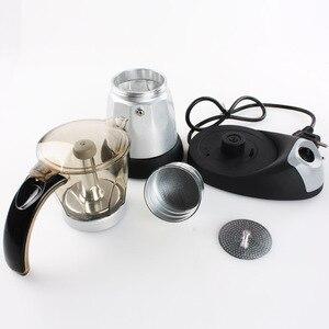 Image 5 - מטבח מיני מכונת קפה חשמלי אוטומטי מכונת קפה קנקן 6 כוסות אספרסו פרקולטור מוקה תה קומקום ביתי