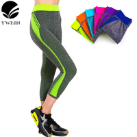New Style Seven Pockets Pants Candy Solid Leggings For Women Sports Gym High Waist Running Leggings