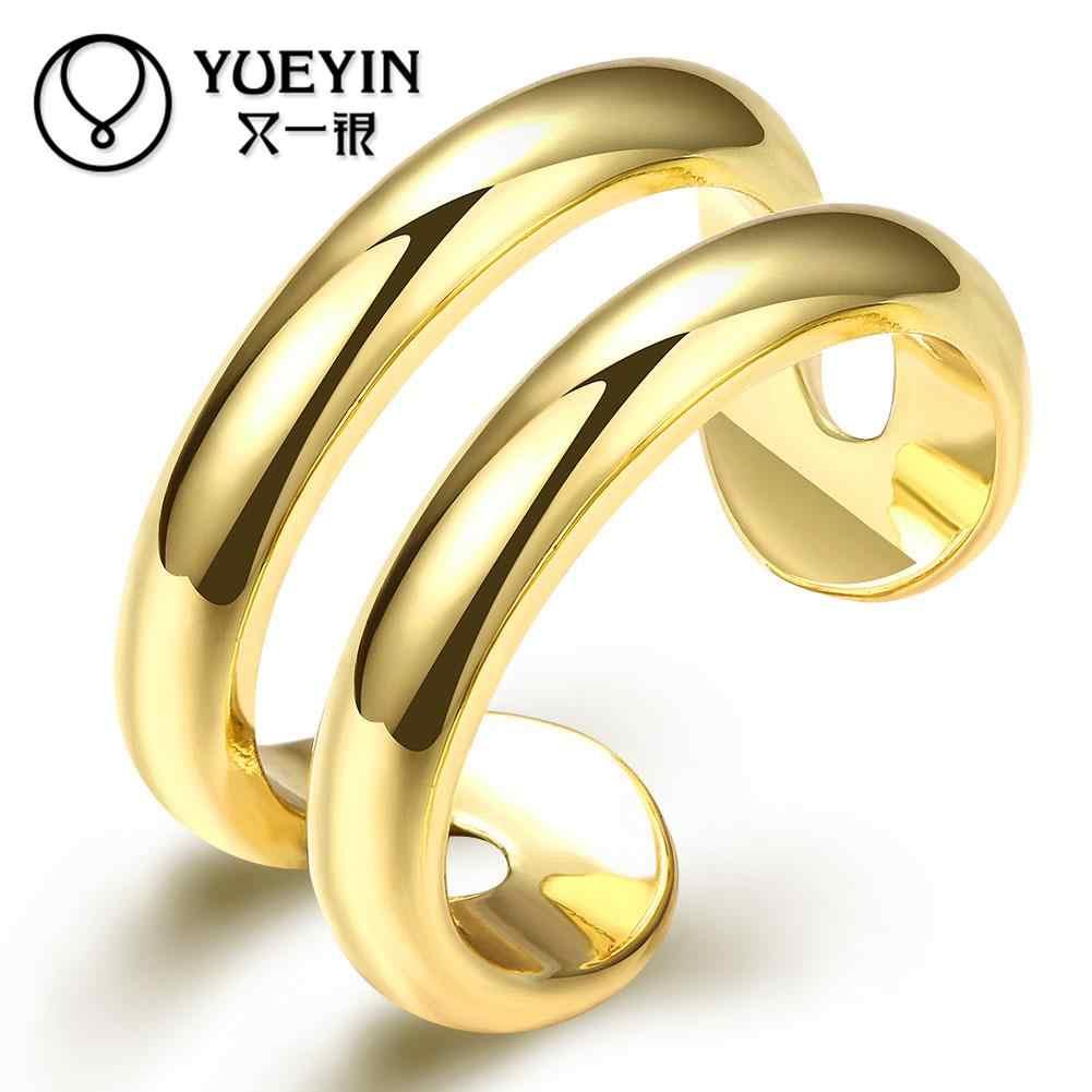 2016 ใหม่มาถึงสีทองแหวนสำหรับผู้หญิงแฟชั่นเครื่องประดับ anel feminino พลอยเทียมหรูหรานิกเกิลฟรี