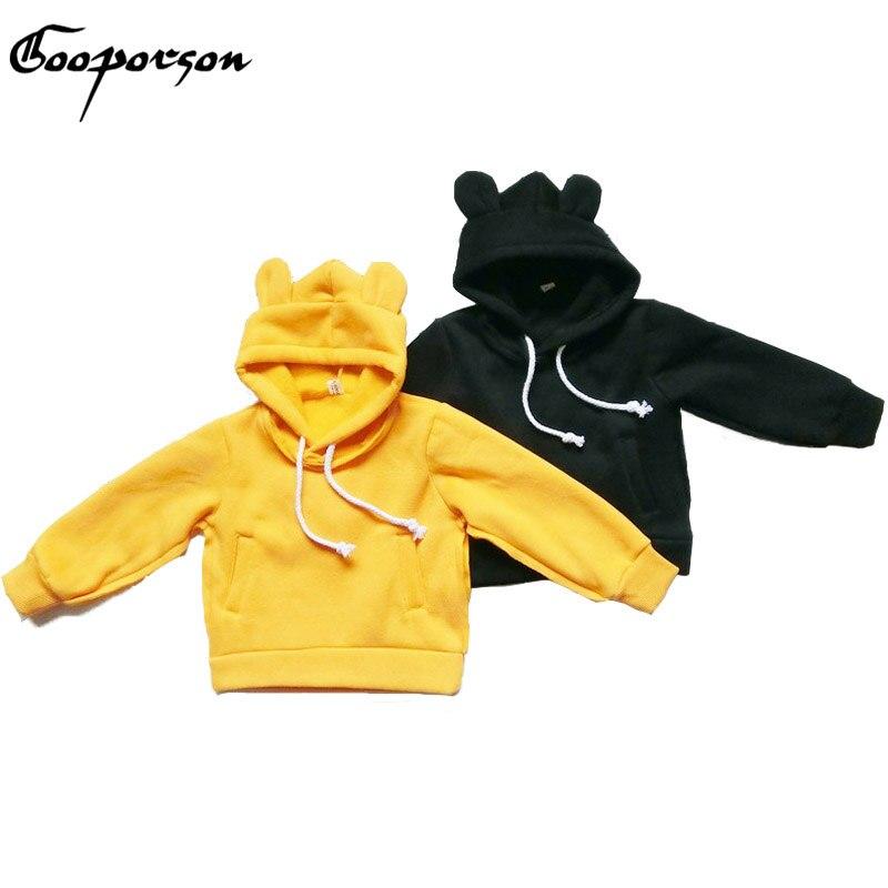 Gooporson Обувь для мальчиков, осень-весна Топы корректирующие медведь с капюшоном Уникальный Дизайн Обувь для девочек милые наряды детская оде...