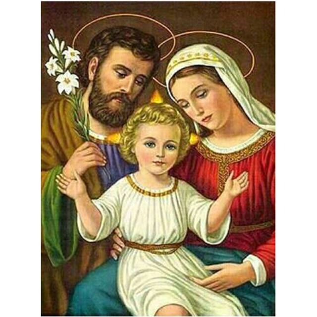Diy Алмазная Картина Вышивка крестом 5d религиозный Святой семейный