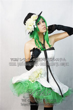 VOCALOID 2 GUMI cosplay costume white suit Halloween uniform party dress Free Shipping custom made