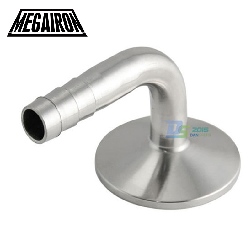 1.5/'/' Tri Clamp to 1//2/'/' Sanitary OD Hose Barb Pipe Fitting 90 Degrees Elbow