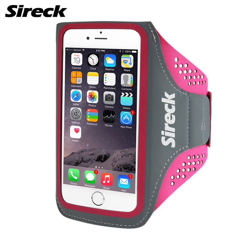 Sireck Running Bag Waterproof Sport Arm Bag 5.0'' 5.8'' Phone Case Fitness Gym Bag Jogging Arms Belt Pouch Running Accessories 14