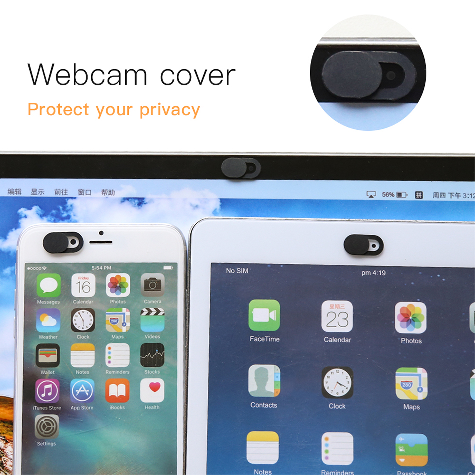 !ACCEZZ WebCam Cover Shutter Magnet Slider Plastic For iPhone Web Laptop PC For iPad Tablet Camera Mobile Phone Privacy Sticker 2