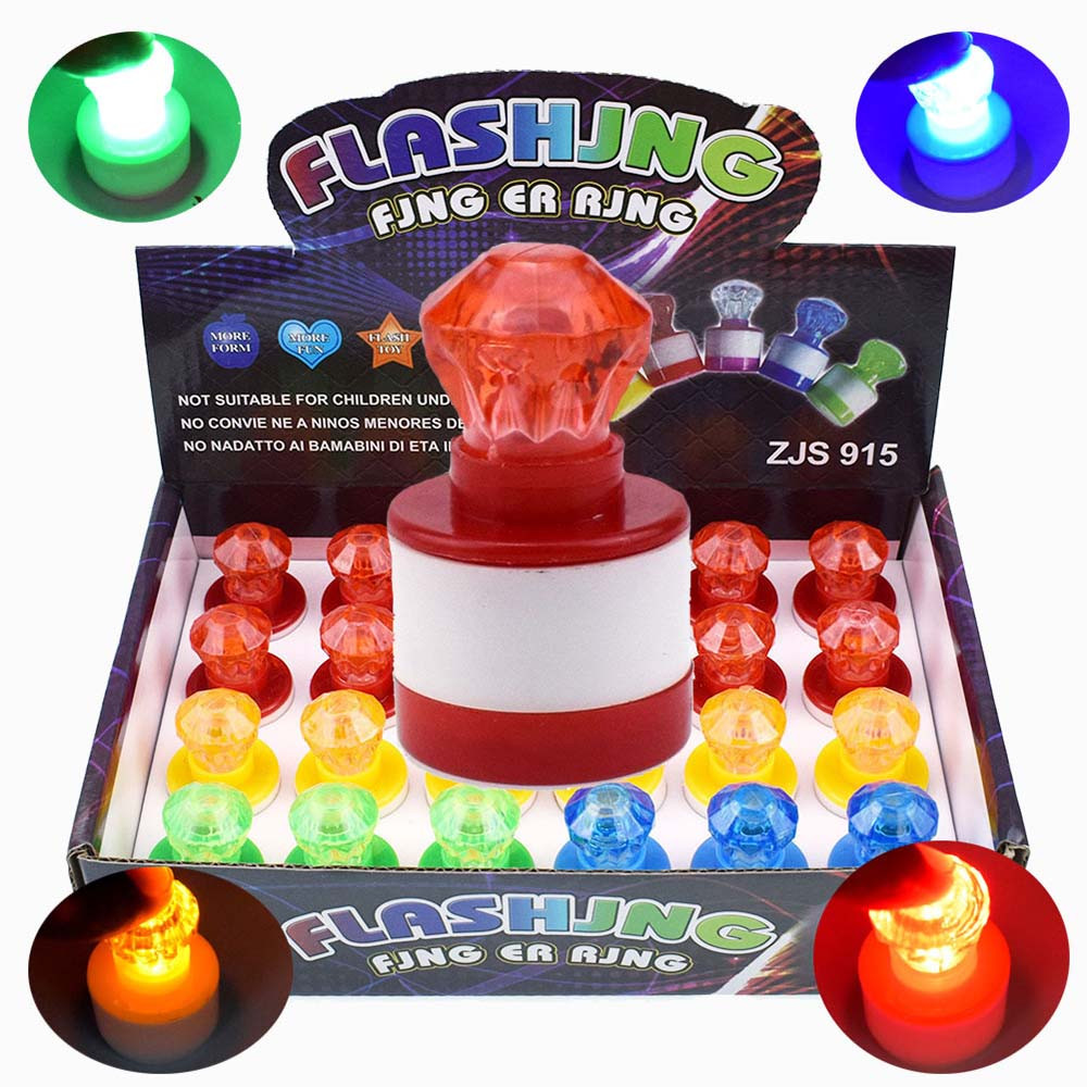 Magic Light Finger Flashing Toys Jumping Spinner Juguetes Toy Funny Colorful LED Seal Kids Children Party Favors Glow Spoof Toys