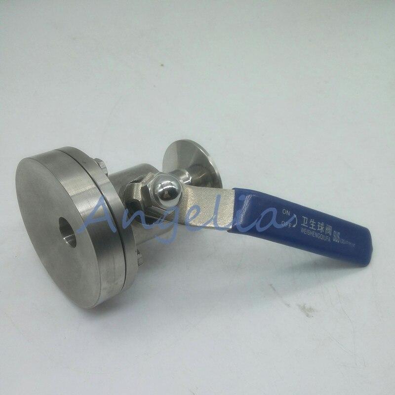 1 дюймовыечистые этикетки пробки Нержавеющаясталь 304 для цистерны санитарной системы нижней шаровой клапан трёхзажимного хомута OD 50,5 мм