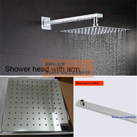 High Quality 304 Stainless Steel Material Bathroom Shower Air Pressure Boost 2mm Thin Rain Shower Head