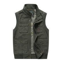 8a5c81333d AFS JEEP Men Military Waistcoat Army Tactical Many Pockets Vest Sleeveless  Jacket Plus Size 6XL 7XL