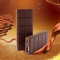 Super delgado estilo de chocolate banco de la energía 3000 mah powerbank paquete cargador de batería externo portable para el iphone lg htc
