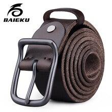 0f671f89cc27 Hommes de cuir véritable ceintures Jeans accessoires pour homme designer ceintures  hommes de haute qualité Rétro de mode BAIEKU .
