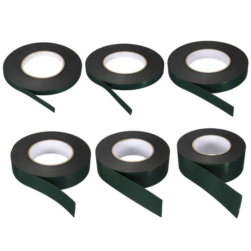10m Strong Waterproof Adhesive Double Sided Foam Black Tape For Car Trim Home #20/F23 5m strong waterproof adhesive double sided foam tape car trim plate width 6 9 12 19 25 38 50mm