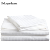 100% Cotton Satin Stripe Bedding sets Twin Full Queen King 3/4PCS Hotel Home textiles Duvet Cover Sets Pillowcase Kekegentleman