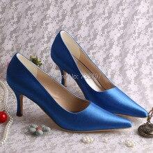Сексуальная обувь Женщина Партия Острым Носом Свадебное Платье Обувь женская Насосы РАЗМЕР 42