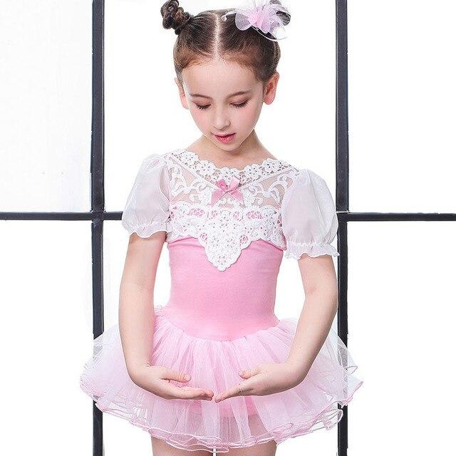 0a7922416 Short Sleeve Ballet Dress Kids Sweet Ballet Tutu Dance Costume ...