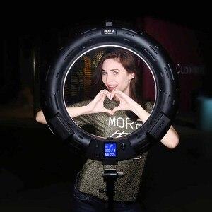 Image 3 - Viltrox VL 600T 18 אינץ דו צבע וידאו LED טבעת אור מנורת אלחוטי מרחוק + אור stand עבור תמונה ירי סטודיו YouTube חי