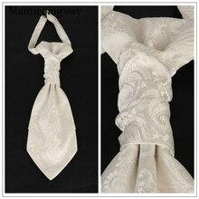 Mantieqingway классический полиэфирный двойной шейный галстук для мужчин черный цветочный Галстук Пейсли для свадьбы жилет шейный галстук Gravata