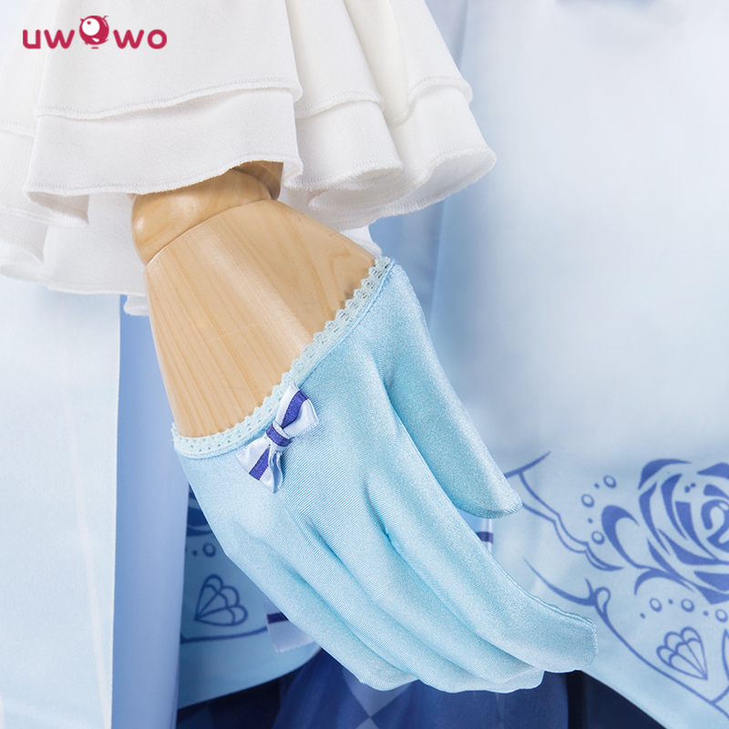 UWOWO Miracle Nikki Costume Spil Dinowo Cosplay Prinsesse Lisa Isblå - Kostumer - Foto 5