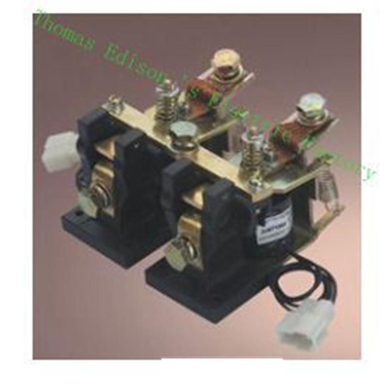 ZJN100-T 2NO+2NC 12V 24V 36V 48V 60V 72V 100A DC Contactor for motor forklift electromobile grab wehicle car ZJN100-2T dc reversing contactor dc182b 537t for forklift 48v 200a zapi b4dc21