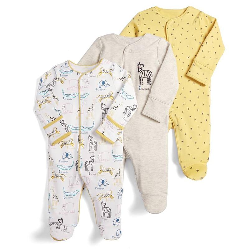 HTB1YnhaVMHqK1RjSZJnq6zNLpXa3 Baby Girl Romper Newborn Sleepsuit Flower Baby Rompers 2019 Infant Baby Clothes Long Sleeve Newborn Jumpsuits Baby Boy Pajamas