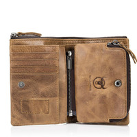 Men Genuine Leather Wallets Rfid Vintage Standard Wallets Cowhide Cover Coin Purse Brand Male Credit&ID Multifunctional Walets