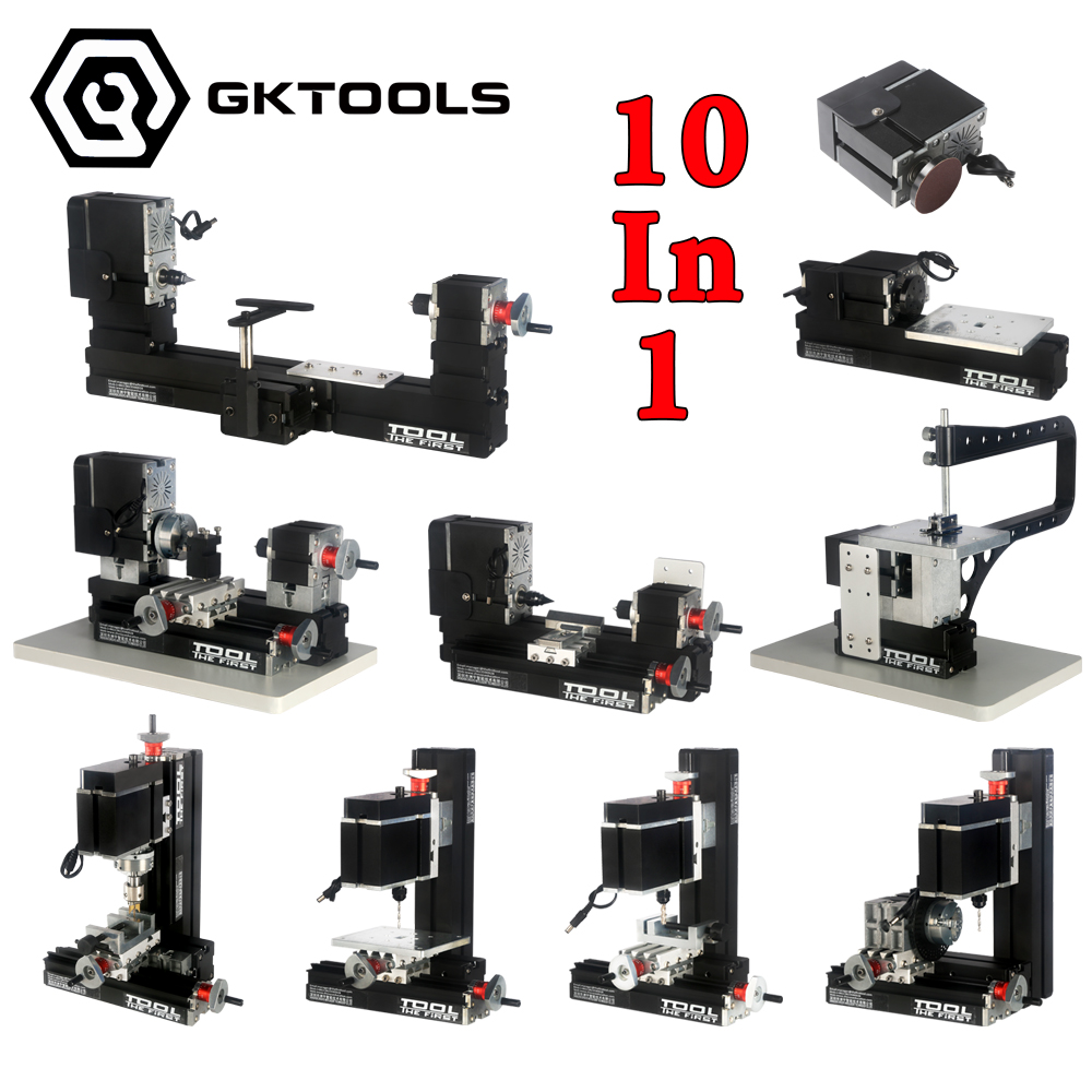 12000r min 60W 10 in 1 Mini Lathe Can be assembled into 10 kinds of machines