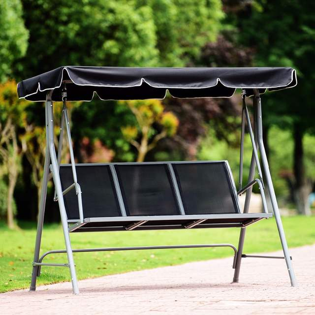 Excellent Us 122 99 Giantex 3 Person Patio Deck Swing Chair Bench Canopy Outdoor Sling Chair Powder Finish Outdoor Furniture Op3538 On Aliexpress Pabps2019 Chair Design Images Pabps2019Com