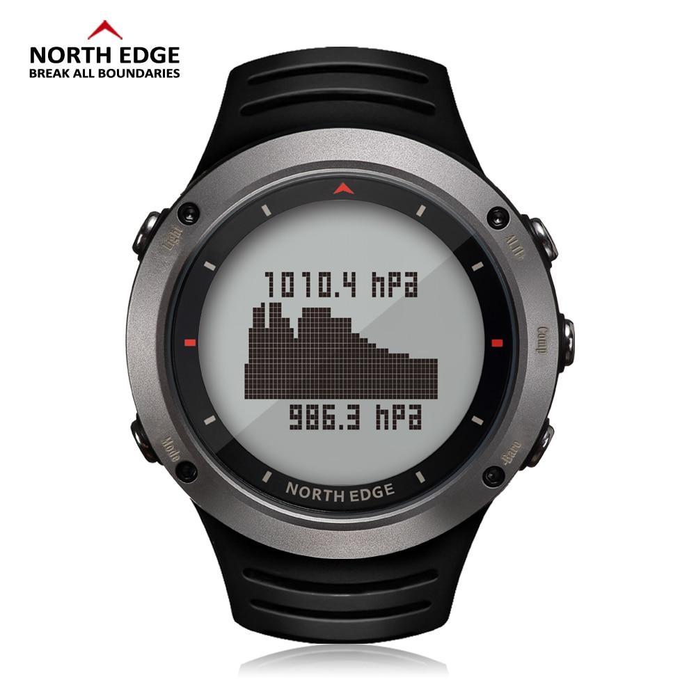878f0b8cfe4 BORDA DO NORTE Homens Esportes Relógio Digital Altímetro Bússola Termômetro  Barômetro Previsão do tempo Relógios Correndo Escalada Relógio de Pulso em  ...