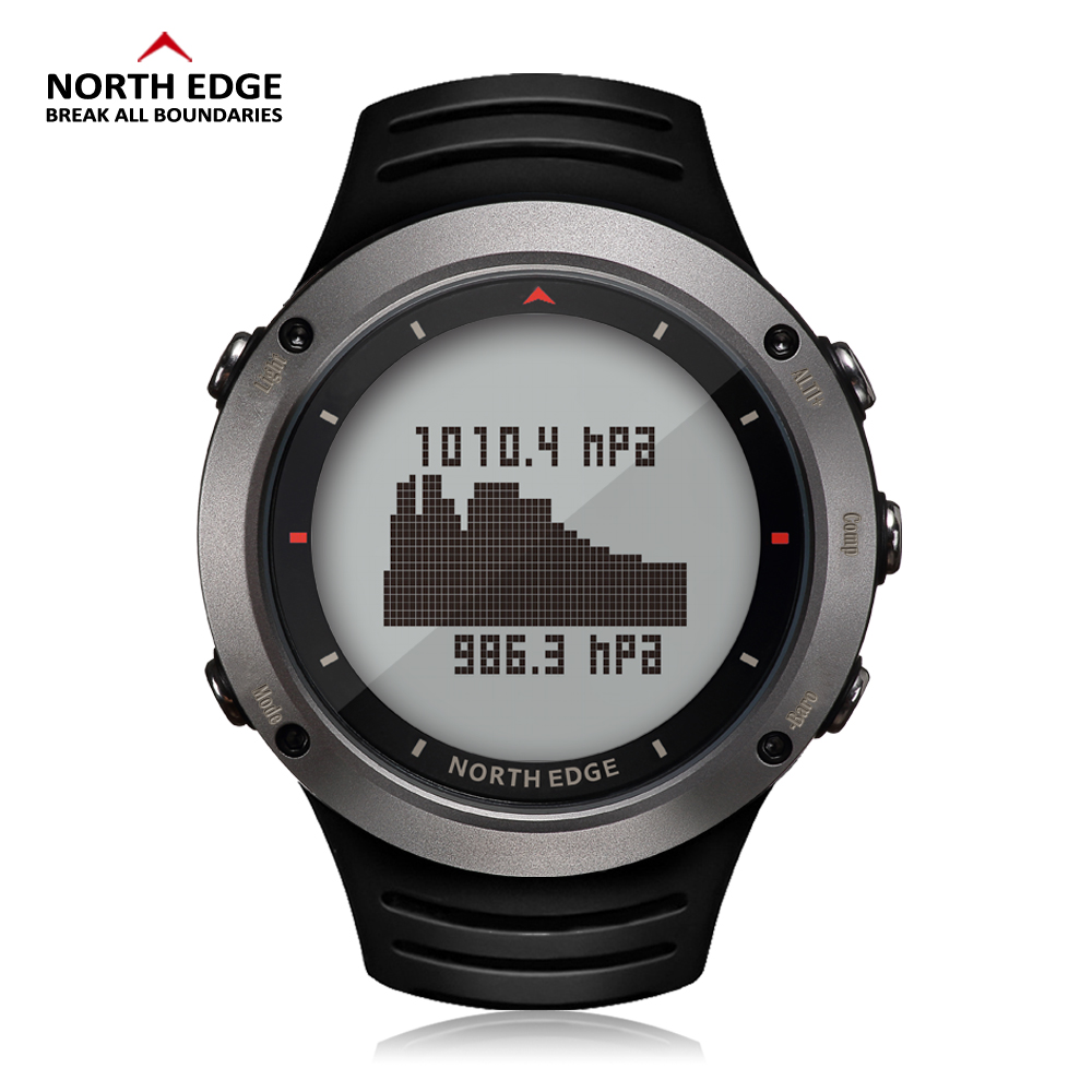 NORTH EDGE Men Sports Digital Watch Altimeter Barometer Compass Thermometer Weather Forecast Watches Running Climbing Wristwatch north edge men sports watch altimeter barometer compass thermometer pedometer calories watches digital running climbing watch