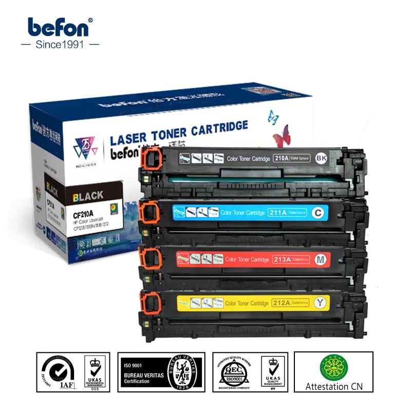 befon Color Toner Cartridge 210 set Compatible for HP CF210A CF211A CF212A CF213A 131A LaserJet Pro