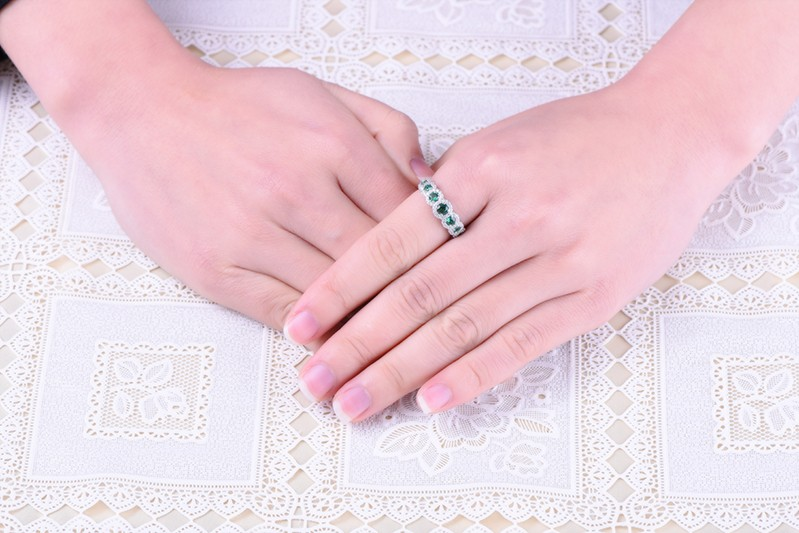 Simulated Diamond sterling silver rings jewelry (1)