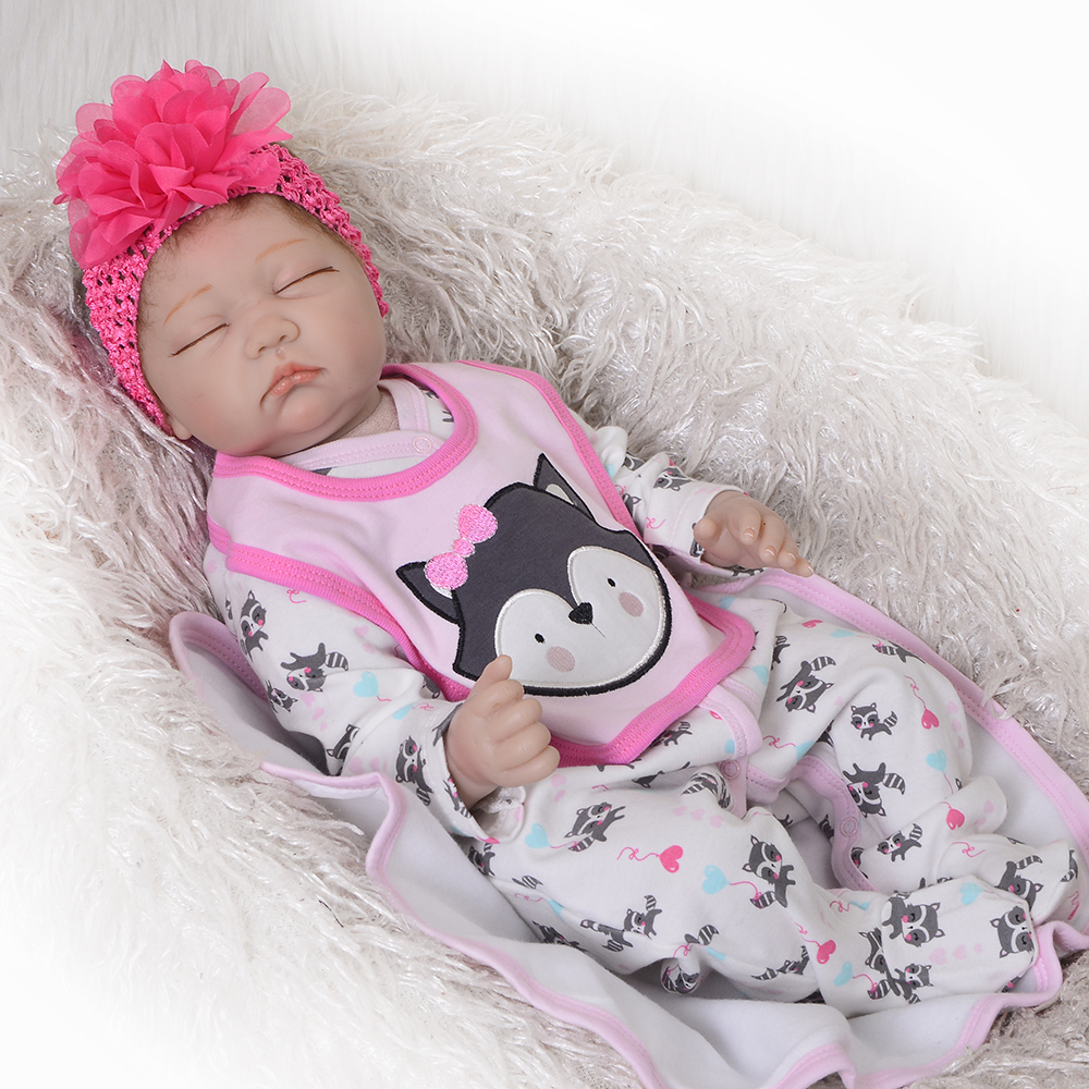 55cm soft body Silicone Reborn Baby Doll Toys Realistic baby New born Princess BJD doll Lovely Bebes reborn gift dolls55cm soft body Silicone Reborn Baby Doll Toys Realistic baby New born Princess BJD doll Lovely Bebes reborn gift dolls