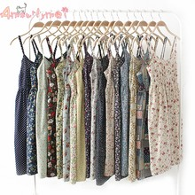 53462d4eb62 Amourlymei Hot Sale 100%Cotton Japanese Summer Women Sweet Cute Floral Print  Spaghetti Strap Basic Bottom Dress Mori Girl Lolita