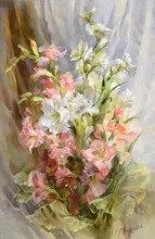 Flores grace 14ct branco lona pintura a óleo kits de ponto cruz artesanato arte bordado diy artesanal agulha trabalho decoração da sua casa