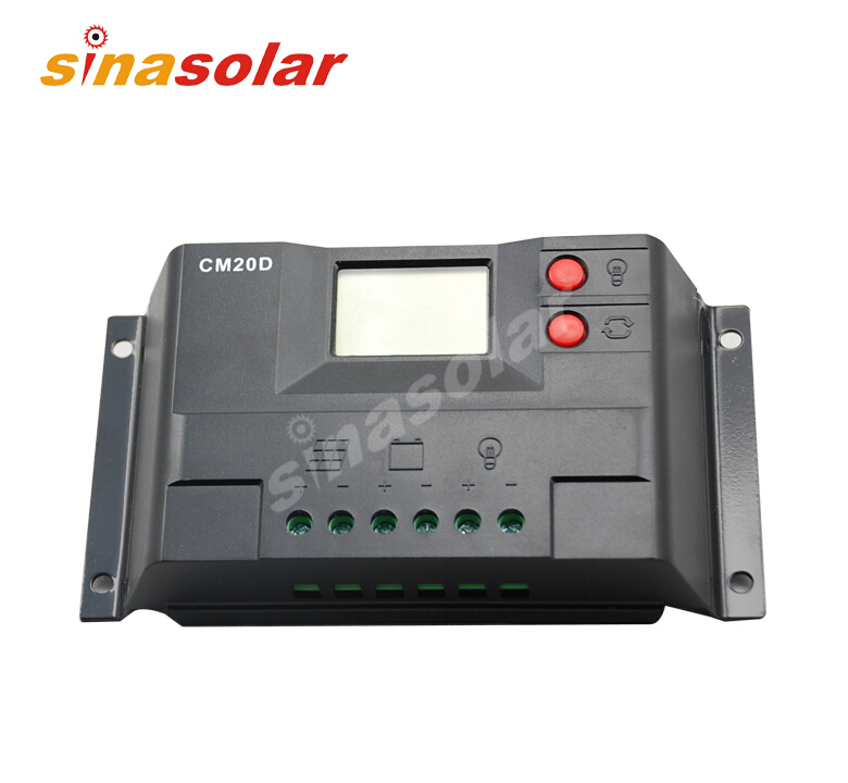 20A 12V/24V Solar Charge Controller/Regulator With USB Power And LCD Display new style metal housing automatic identification power display 12v 24v 30a 20a solar charge controller