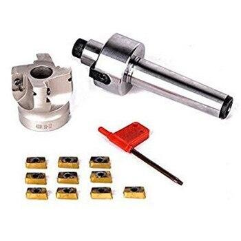 Fresa CNC MT3 FMB22 M12 Shank 400R 50-22 con 10 Uds APMT1604 insertos de carburo para fresadora CNC
