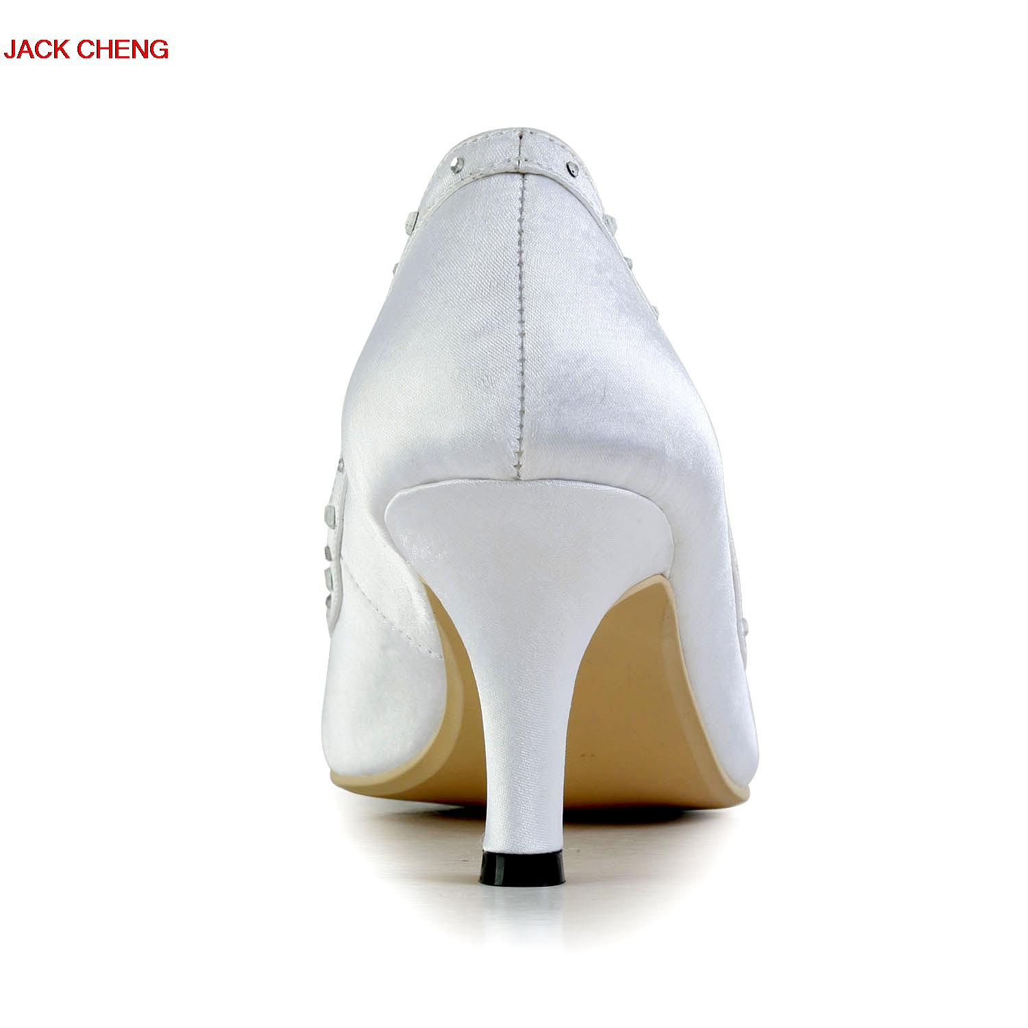 White Satin Bridal Dress Shoes Pointed Toe Glitter Flower Wedding Party Shoes Kitten Heels Sexy Women Prom Pumps Summer Sandals newest flock blade heels shoes 2018 pointed toe slip on women platform pumps sexy metal heels wedding party dress shoes