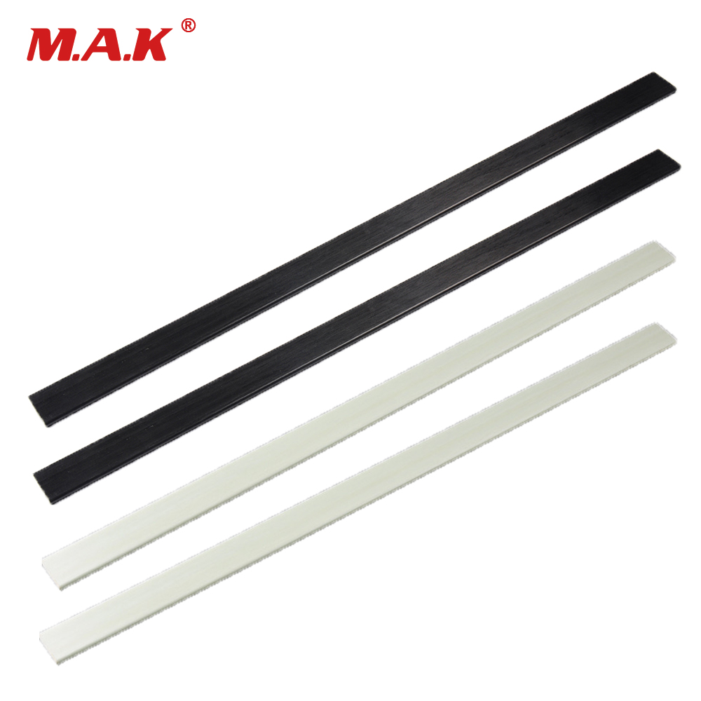 2 Pcs Mixed Fiberglass Bow Limbs High Strength 6mmx30mmx600mm Black/White 40-50 Pound For DIY Bow Archery Hunting Shooting