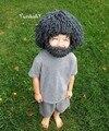 Beard Wig Hats Hobo Mad Scientist Rasta Caveman Handmade Knit Warm Winter Caps Men Women Halloween Gift Funny Party Mask Beanies