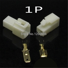Automotive Connector Plug 6.3mm 1PIN Connector  Male-Female Butt Plug connector