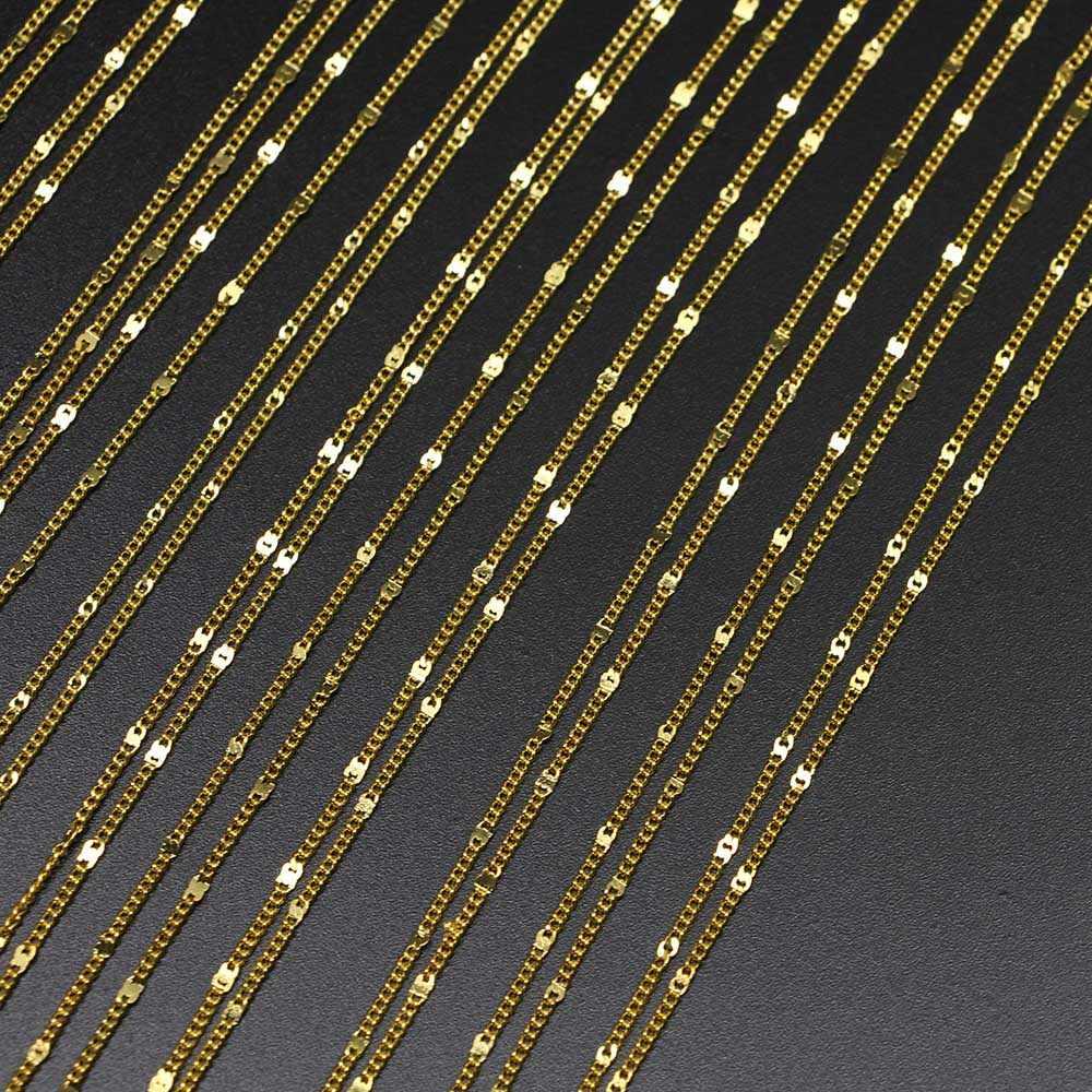 สีขาว K Silver GOLD กุ้งก้ามกราม 12 ชิ้น/แพ็ค 40 ซม.สร้อยคอโซ่ทองแดง Chocker DIY ผลการค้นหาเครื่องประดับจำนวนมากขายส่ง