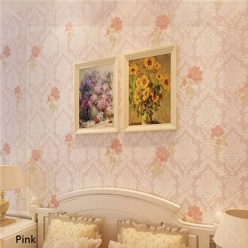 3 d wall papers damask floral wallpaper eurpean vintage - Description of a living room essay ...